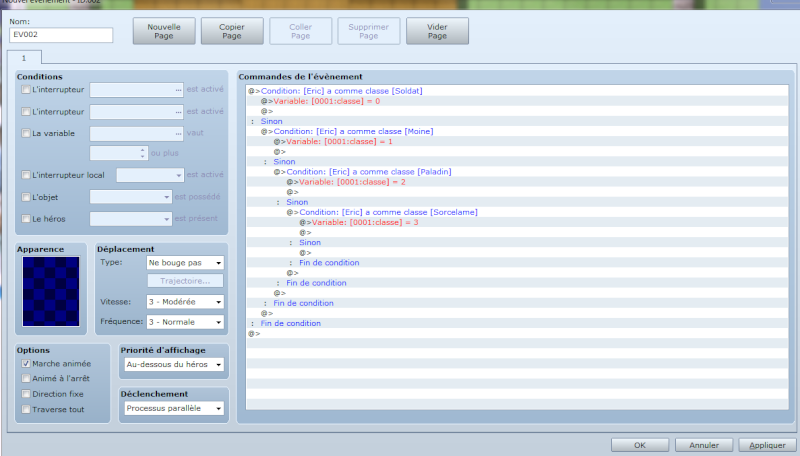switcher entre les différentes pages d'un même évènement Event110