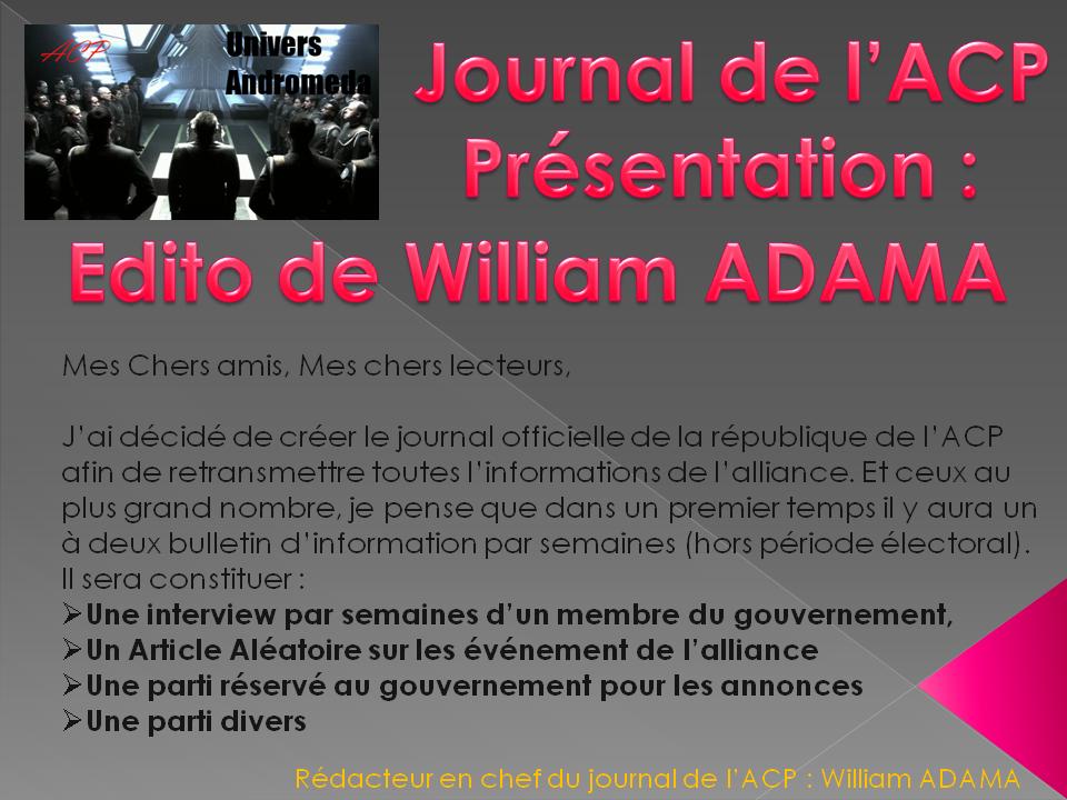 Présentation du Journal Prasen11