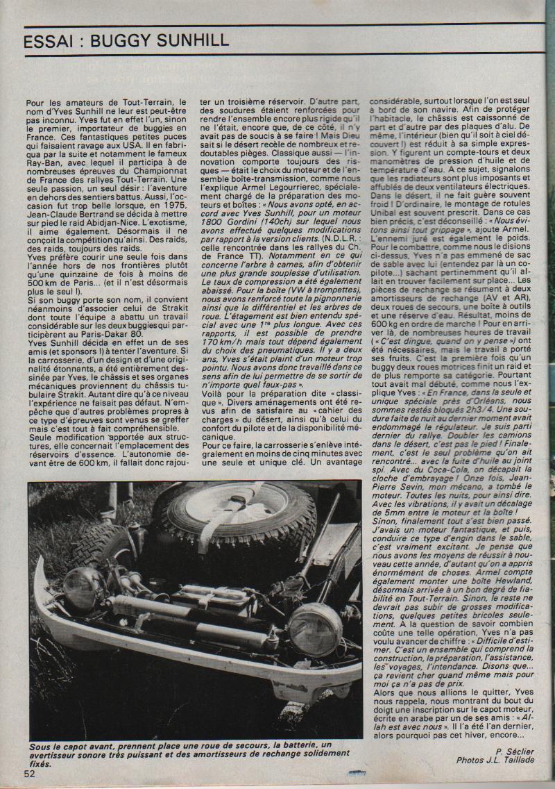 buggy - essai buggy sunhill dakar 1980 Buggy_12