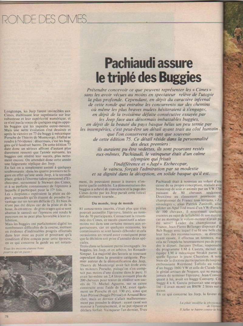PACHIAUDI - Cimes 1975: 1er YVES PACHIAUDI  sur...PACHIAUDI  (of course) Cimes_12