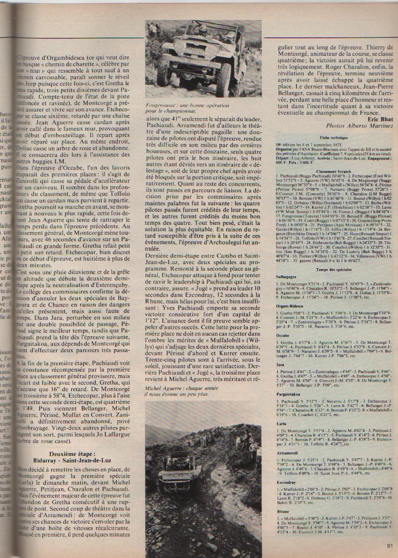 PACHIAUDI - Cimes 1975: 1er YVES PACHIAUDI  sur...PACHIAUDI  (of course) Cimes_14