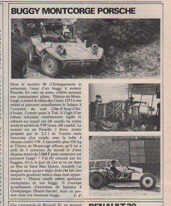 buggy - BUGGY DE MONTCORGE  VAINQUEUR CIMES 1973: les dessous... De_mon10