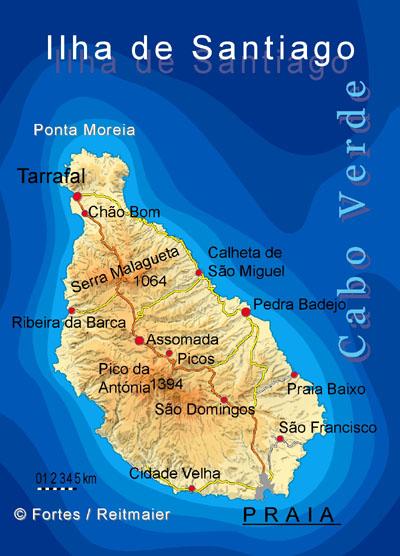 """Petit tour au Cap Vert """"Cabo Verdé"""" Carte_10"""