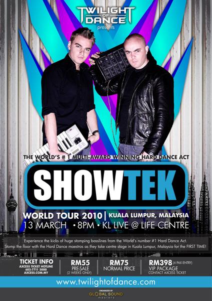 Showtek Hardtrance Music LIVE at KL Showte10