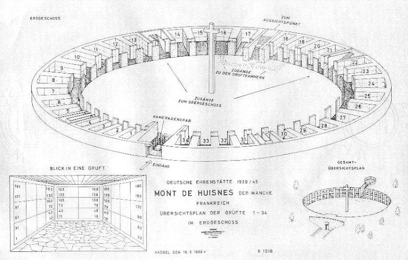 Cimetière Militaire Allemand du Mont de Huisnes (50) Mont_d10