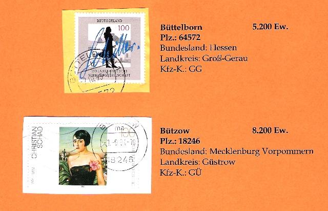 Aus meiner Stempelsammlung deutscher Postorte - A-D Deutsc26