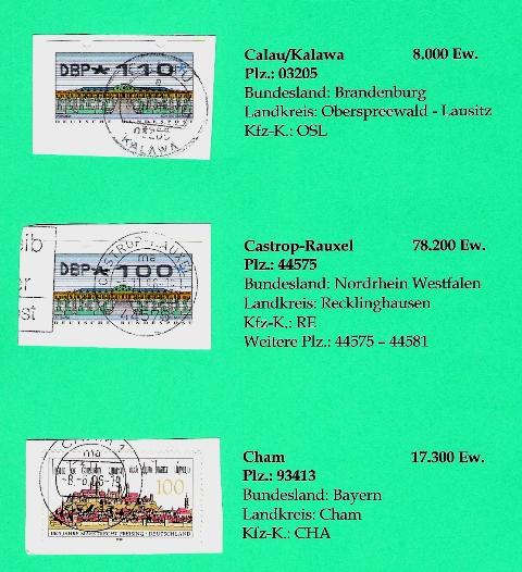Aus meiner Stempelsammlung deutscher Postorte - A-D Deutsc27