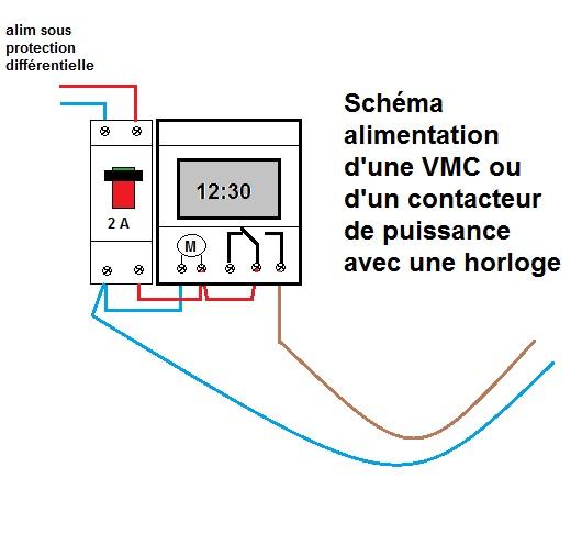 Cabler un interrupteur horaire sur une VMC simple flux Comman10