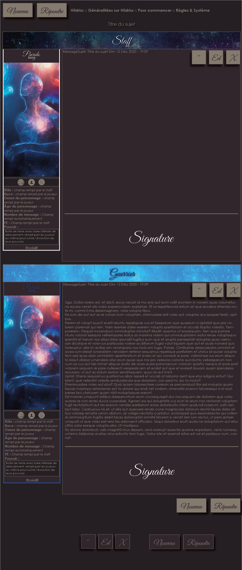 Partie profil et corps de message Profil10