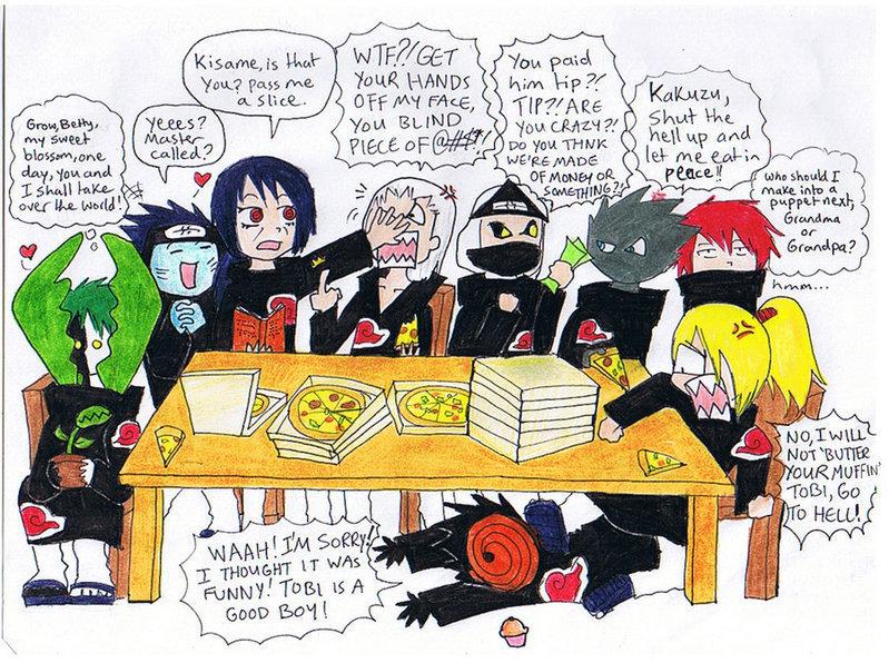Los Akatsuki (como en realidad son) Breakf10