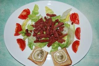 Salade aux lardons de canard. Salade10