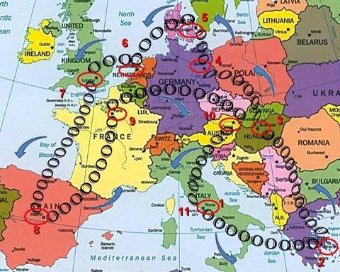 """Gara """"Tour d'Europa 2013"""" dal 27 al 31.05.14 Mappa_10"""