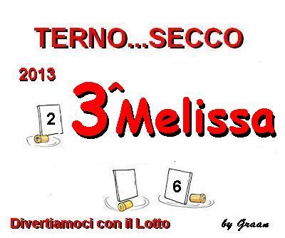 VINCITORI TERNO SECCO OMBRA-PENNY-MELISSA Premio12