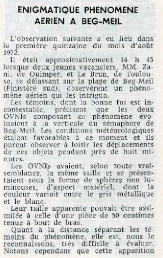 1974 - Observation de Beg Meil Beg_me11