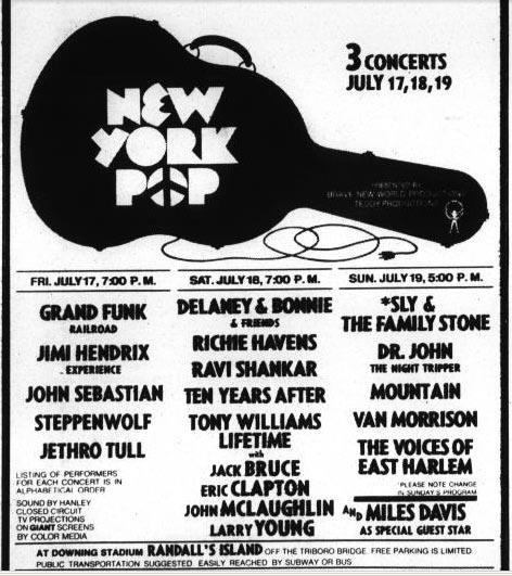 Randall's Island (New York Pop) : 17 juillet 1970 70970n10
