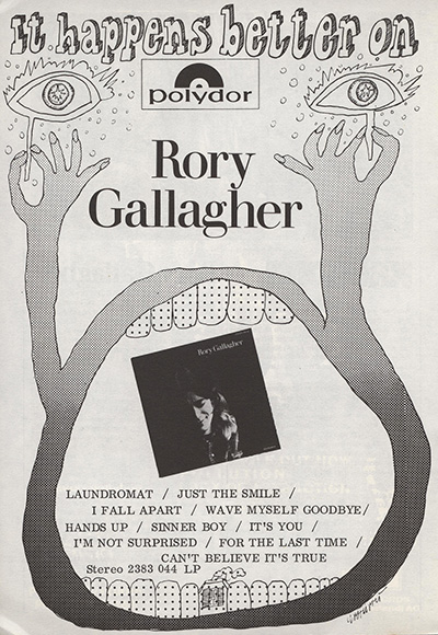 Rory Gallagher (1971) - Page 2 Advert12