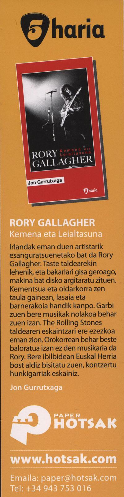 Jon Gurrutxaga - Rory Gallagher Kemena eta leiatasuna Biogra10