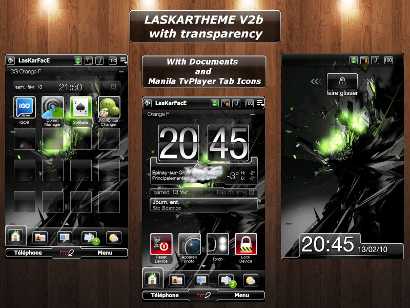 [13-01-10]LASKARTHEME V2 Version Black ,Bleu,Verte et Transparente V2b11