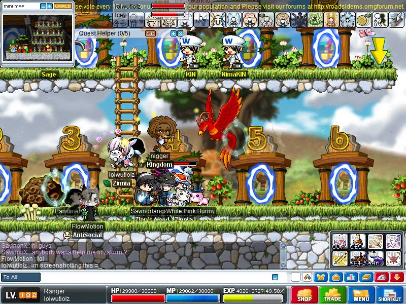 goodbye cuz of haxor or glitch T.T Maple013