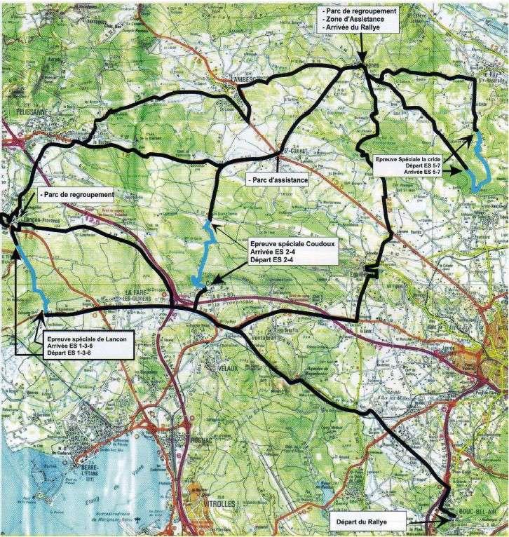 15e Rallye du Mistral 2010 Carte-10
