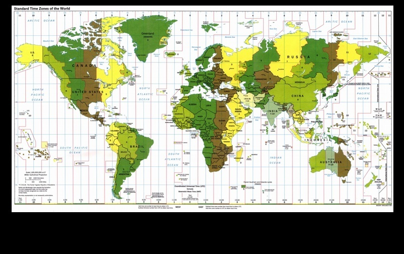 Time Zone Map Time_z10