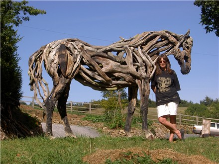 HEATHER JANSCH sculptures-chevaux en bois flotté 20_fev10