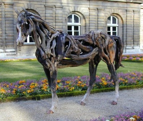 HEATHER JANSCH sculptures-chevaux en bois flotté 20_fev13