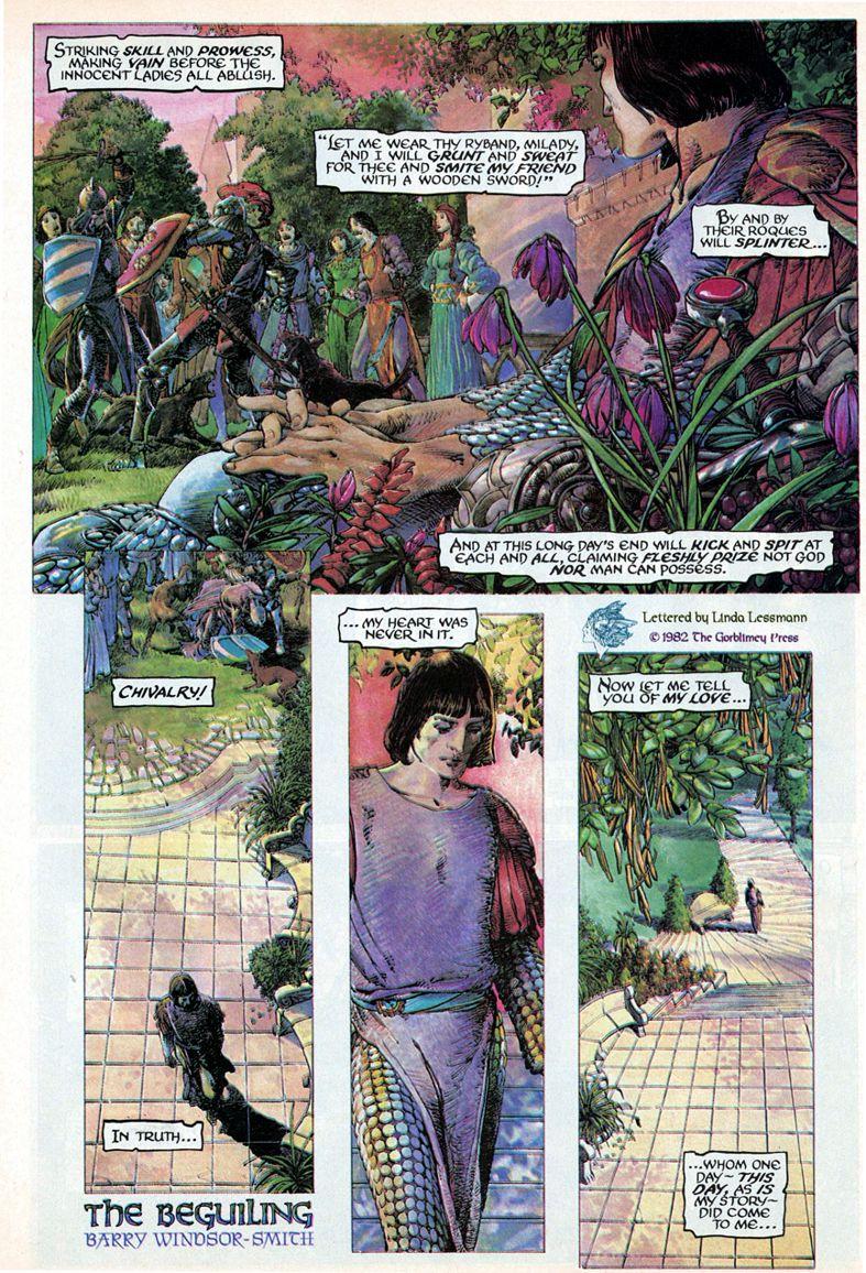Barry Windsor-Smith entre l'art et les comic-books Beguil10