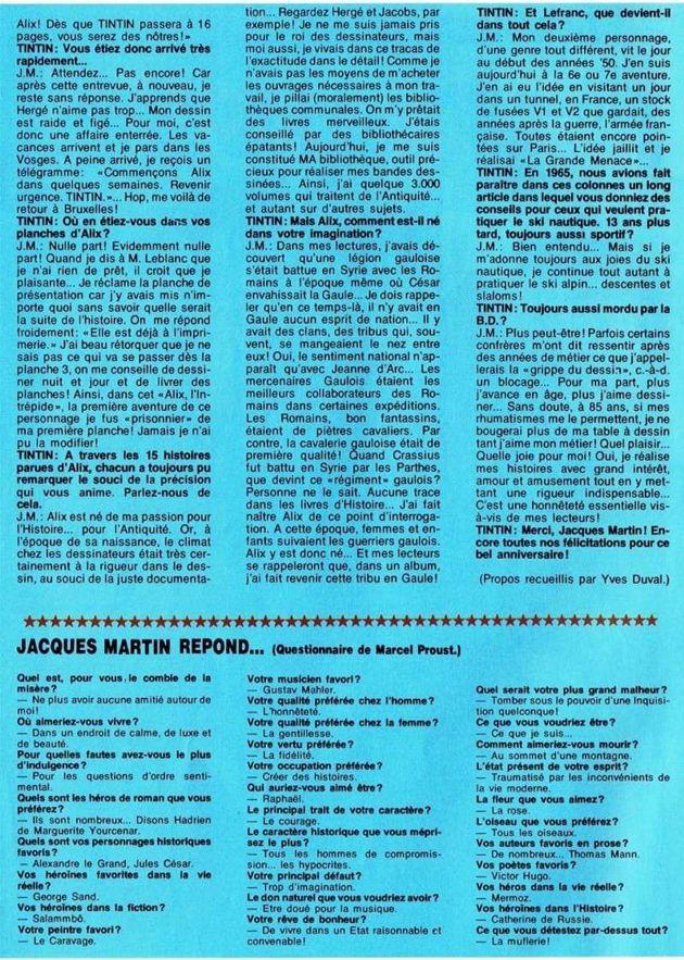 50 ans avec Jacques Martin - Page 5 Interv14