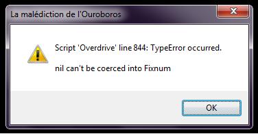 Problème script Overdrive [Résolu] Error10