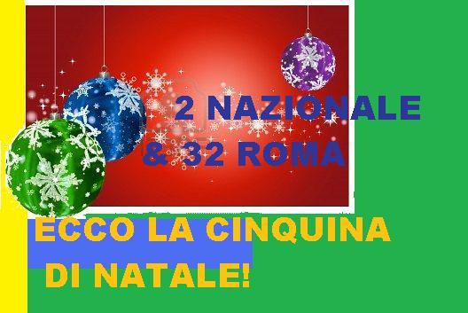 Lotto&lotto: 2 NAZ-32 RM: UN TERNO E UNA CINQUINA DI NATALE! Palle10