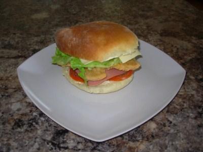 Hamburger au poulet sauté Humber10