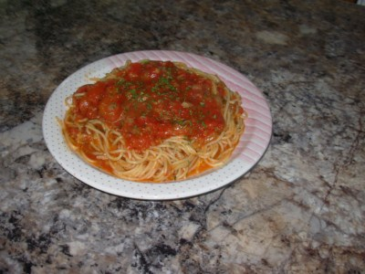 Spaguetti sauce tomate Spague10