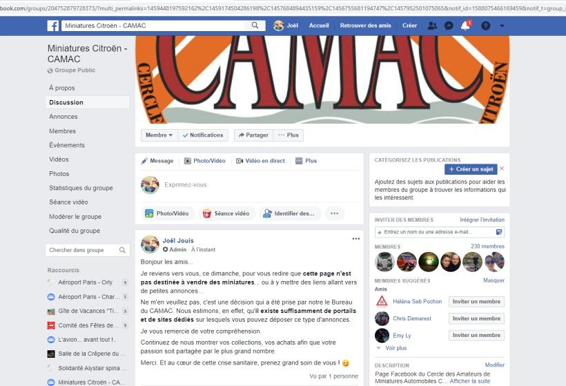 Rappel sur notre page Facebook Rappel10