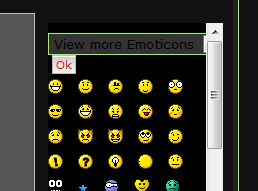 "Text Color for ""View more Emoticons"" View_m10"