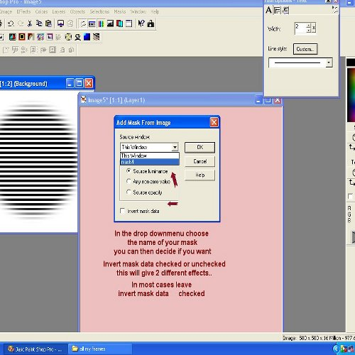 using a mask in psp Mask610