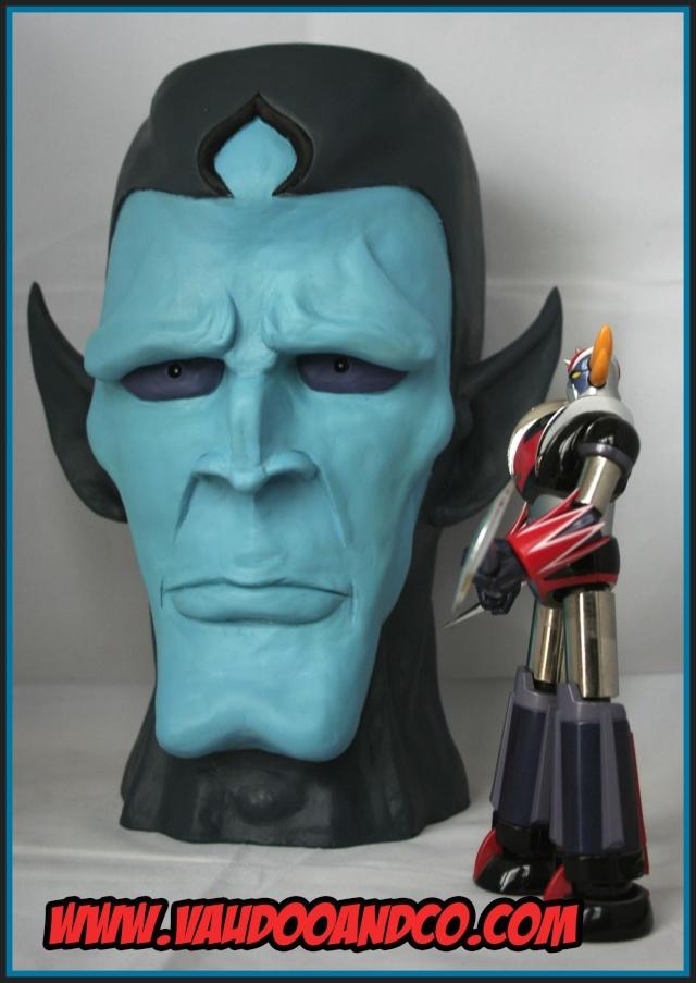 Goldorak : Buste au 1/1 de Minos par sculpteurfou Minosg10
