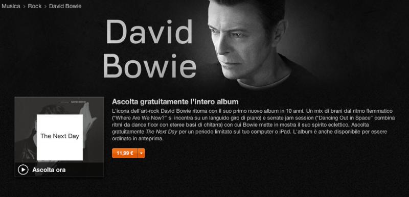 """David Bowie """"The Next Day"""" Scherm10"""