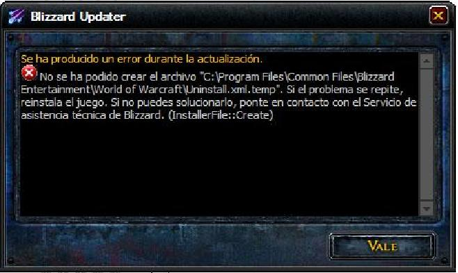 World of Warcraft descargas Fallo_11