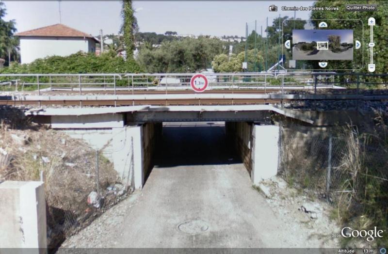 STREET VIEW : Les ponts à hauteur limitée Hauteu10