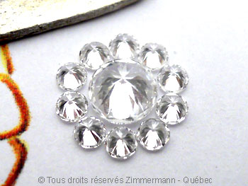 Pendentif palladium avec pierres non traitées............... Palldi10