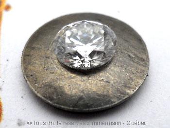Pendentif palladium avec pierres non traitées............... Palldi11