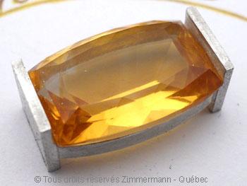 Pendentif Citrine et Diamant bleu Peafb017