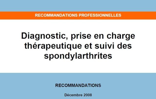 Diagnostic, prise en charge thérapeutique et suivi des spondylarthrites Spondy10