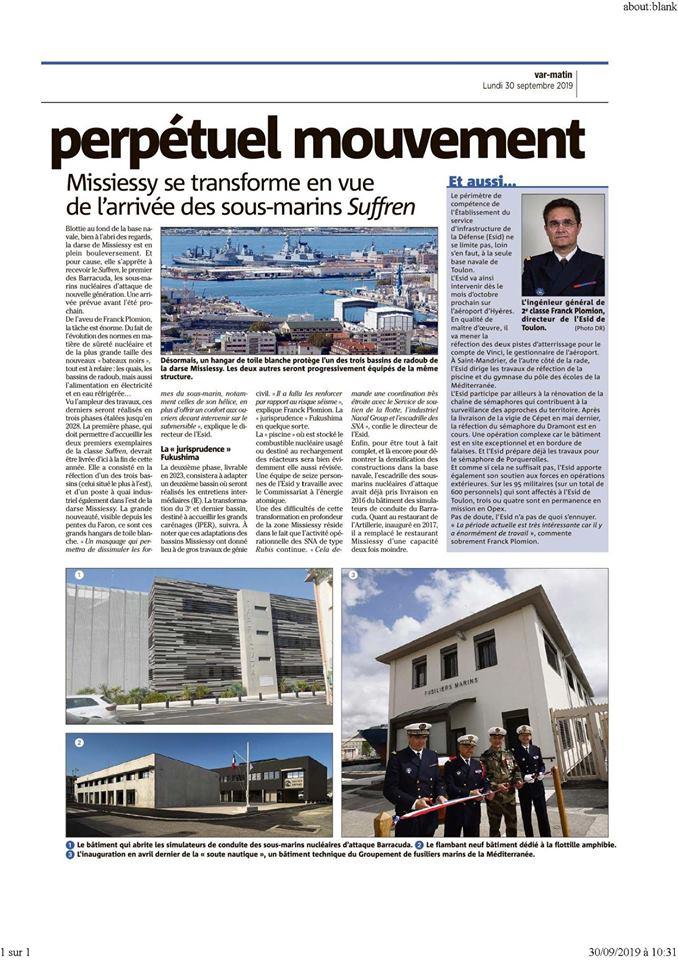 [LES PORTS MILITAIRES DE MÉTROPOLE] Mouvements de Bâtiments dans la rade de Toulon - Page 26 71323010