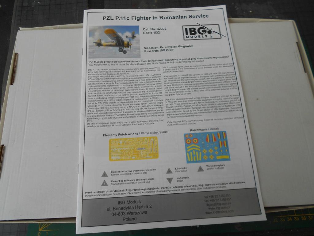 pzl p.11 c fighterin romanian  1/32 ibg modéle  Dscn3196