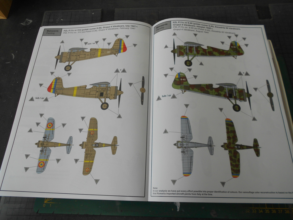 pzl p.11 c fighterin romanian  1/32 ibg modéle  Dscn3202