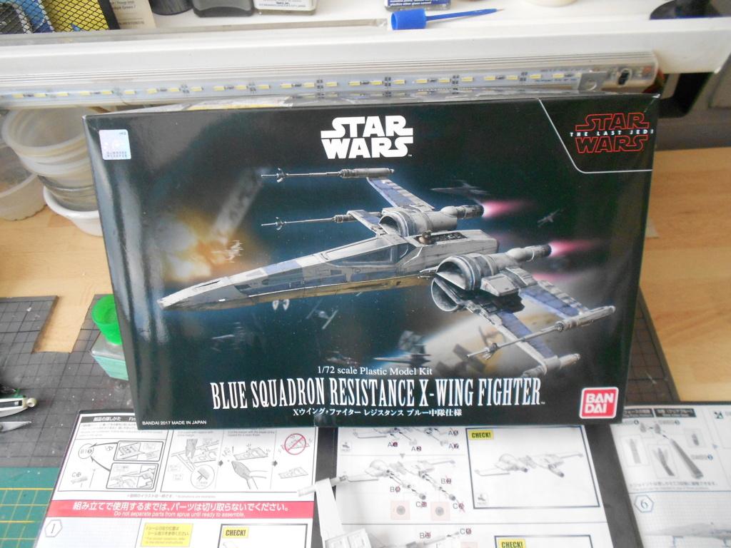 star wars blue squadron resistance x-wing fighter 1/72 bandai  Dscn5541
