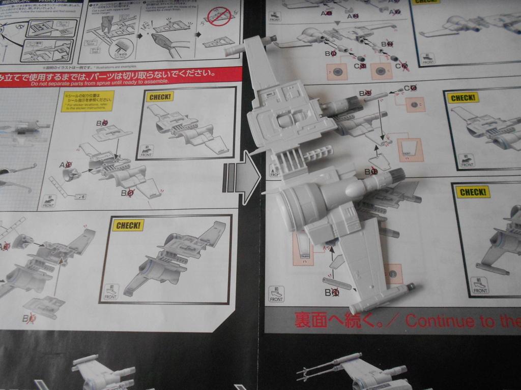 star wars blue squadron resistance x-wing fighter 1/72 bandai  Dscn5542