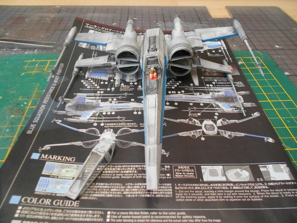 star wars blue squadron resistance x-wing fighter 1/72 bandai  Dscn5587